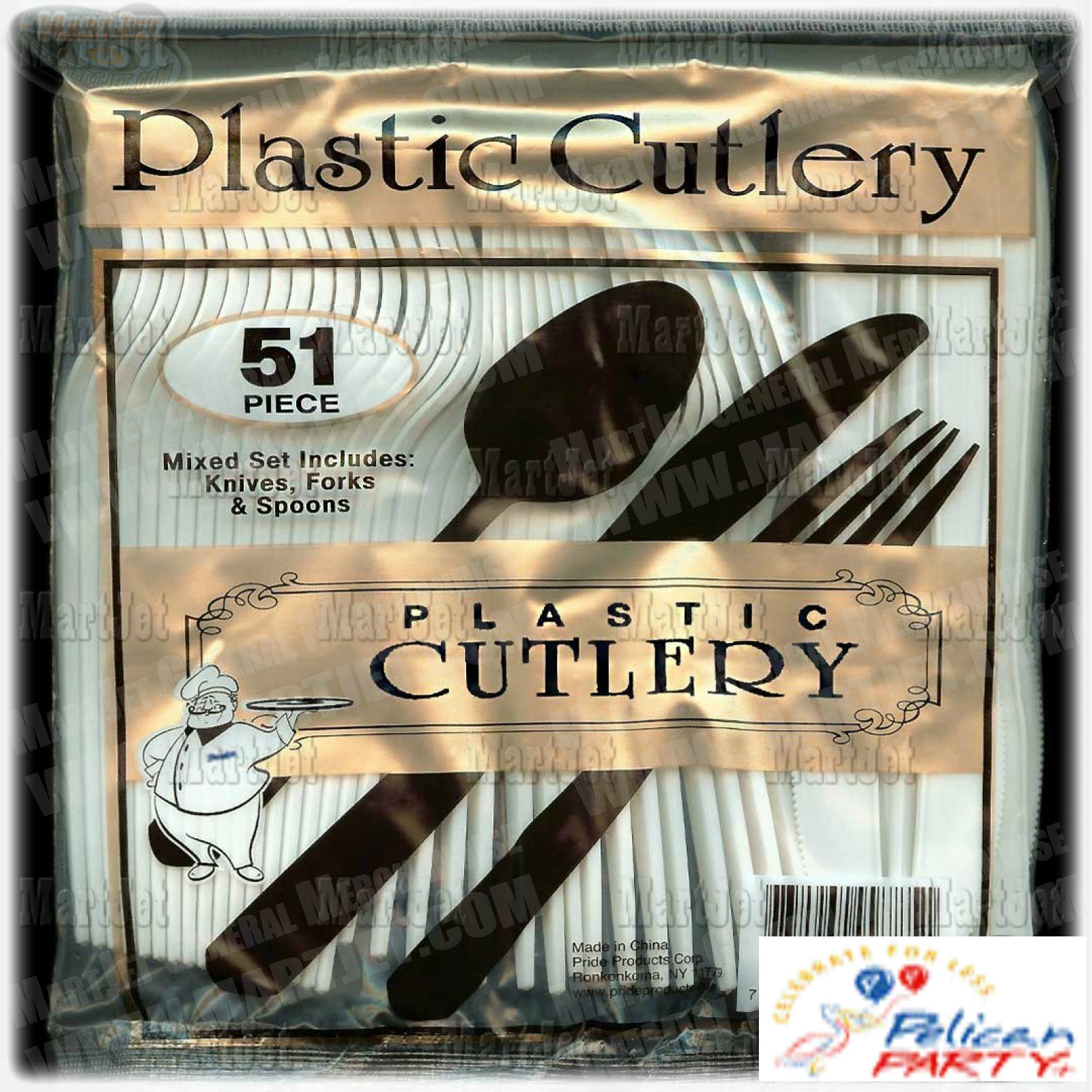 Plastic Cutlery 51 Pieces White