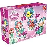 Disney Princess 4-in-1 Ariel Shaped Jigsaw Puzzles