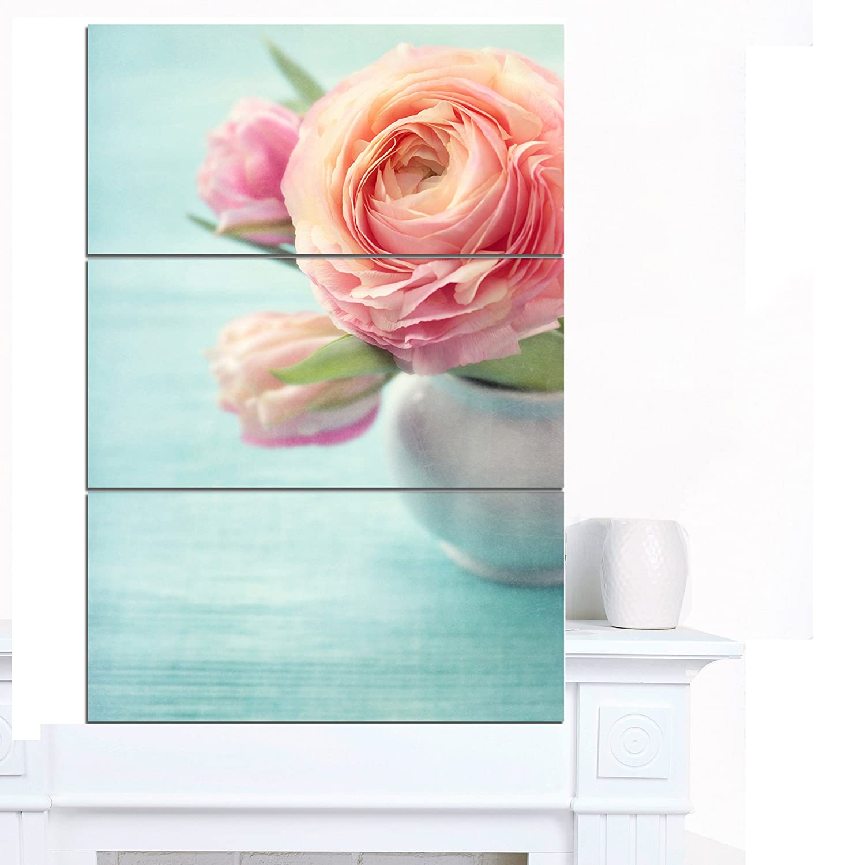 CDM product Designart PT14219-271V Beautiful Flowers in Vase Floral Work Print Canvas Art big image