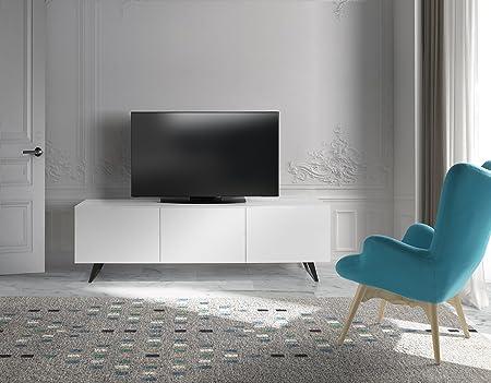Dugarhome - Muebles de TV Modernos - Mueble Lyon 3 Puertas Blanco: Amazon.es: Hogar