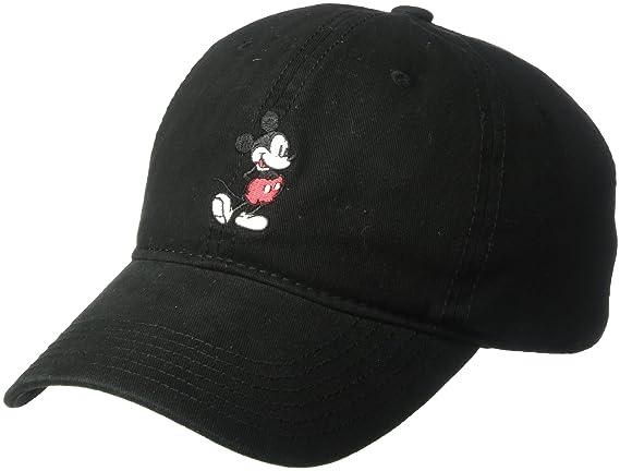 93f53b45ee22b Amazon.com  Disney Men s Mickey Washed Twill Baseball Cap ...