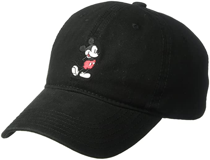 d9fd09ed Disney Men's Mickey Washed Twill Baseball Cap, Adjustable, Black, One Size