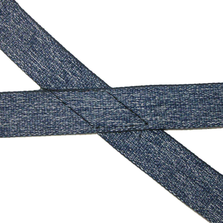 CTM Kids Elastic 1 Inch Wide Clip-End Dark Denim Suspenders