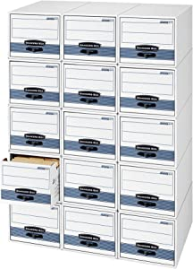 Bankers Box STOR/DRAWER STEEL PLUS Extra Space-Saving Filing Cabinet, Stacks up to 5 High, Legal, 6 Pack (00312)
