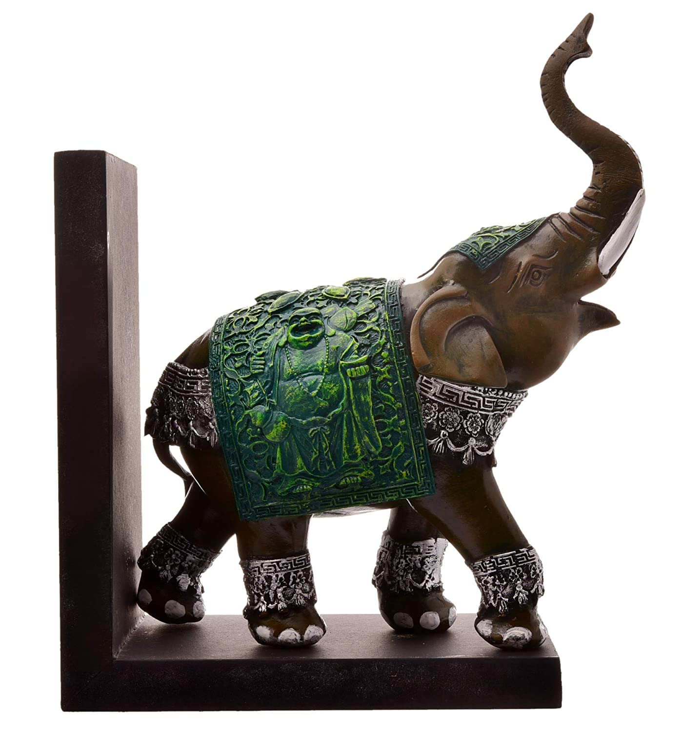 Buy Karigaari India Handcrafted Resine Green Elephant Sculpture Showpiece For Home Decor And Office Online At Low Prices In India Amazon In