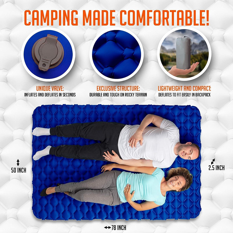 Amazon.com: Royexe - Colchoneta de camping doble resistente ...