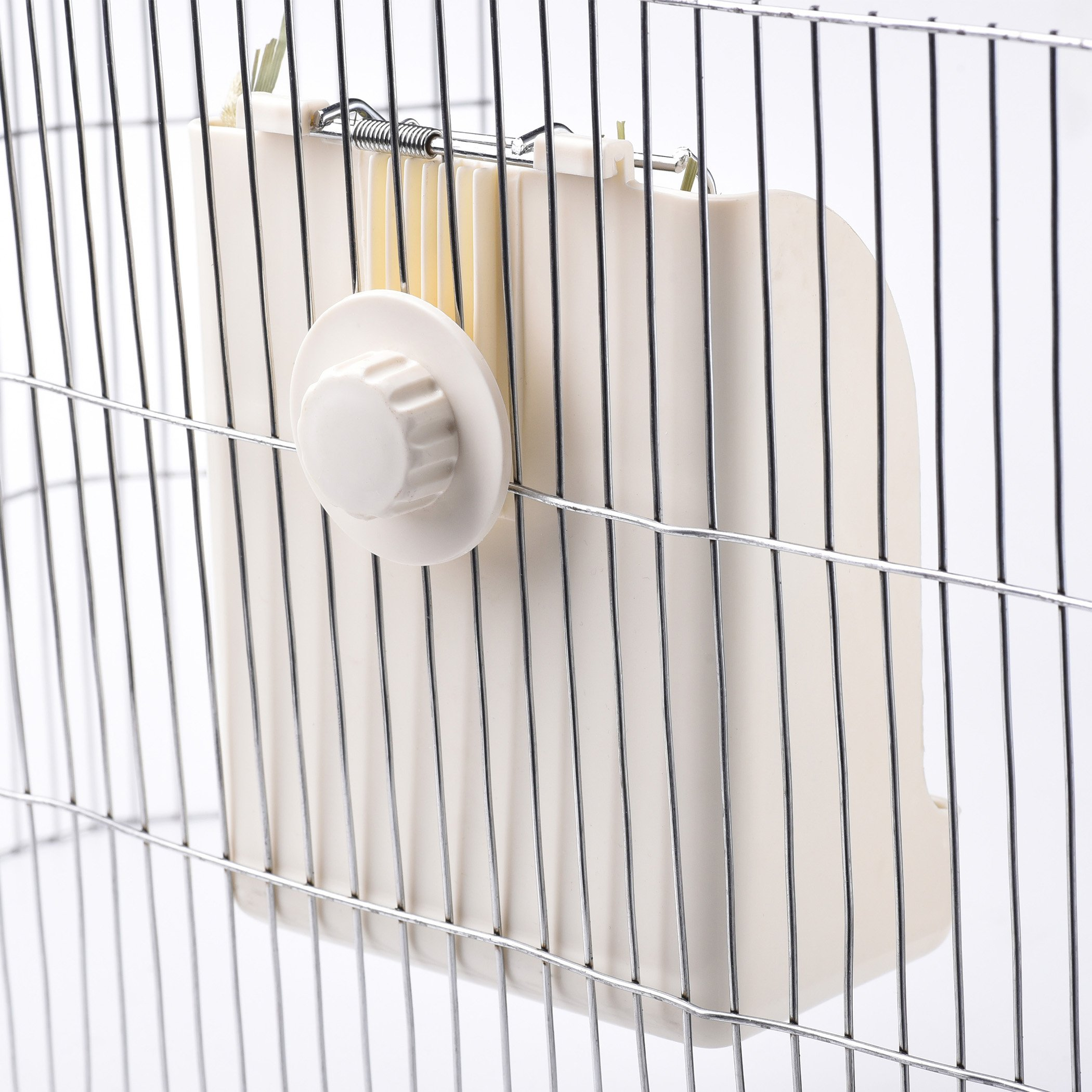 CalPalmy (Upgraded 2-Pack) Hay Feeder/Rack - Ideal for Rabbit/Chinchilla/Guinea Pig - Keeps Grass Clean & Fresh/Non-Toxic, BPA Free Plastic/Minimizing Waste/Mess by CalPalmy (Image #3)