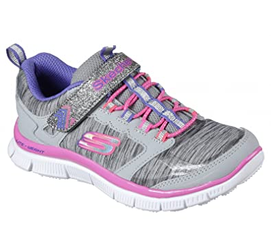 Skechers Appeal Daring Dream Velcro Girls Sports Trainers Junior 1.5/34 Grey  Multi