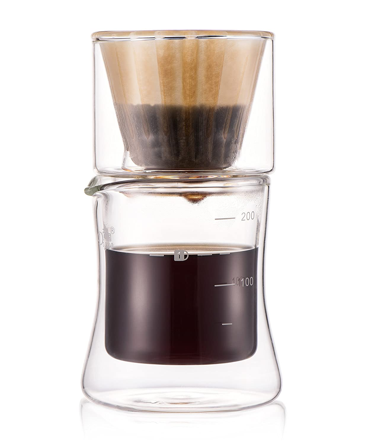 Diguo Nature Waveシリーズ用紙コーヒーフィルタ使い捨てコーヒーフィルタBleached ( 50 Count Wave用紙フィルタ  Coffee Maker Set B01N8TDKQG