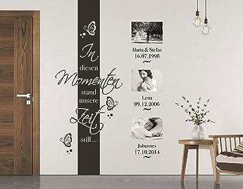NEU Tjapalo® S Pkm70 Wandtatto Wandbanner Wohnzimmer Wandtattoo In Diesen  Momenten Stand Die Zeit