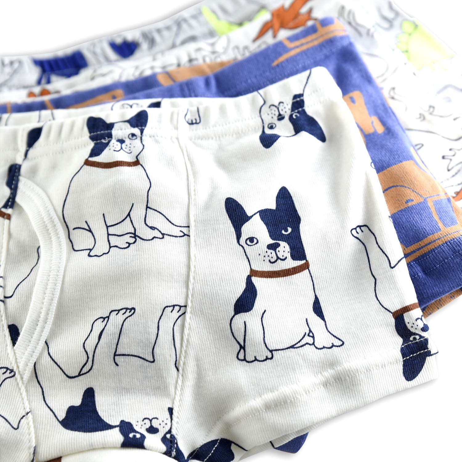 slaixiu Soft Cotton Kids Boxer Briefs Cartoon Boys Underwear Boxers 4-Pack (UW75-No.5-110)