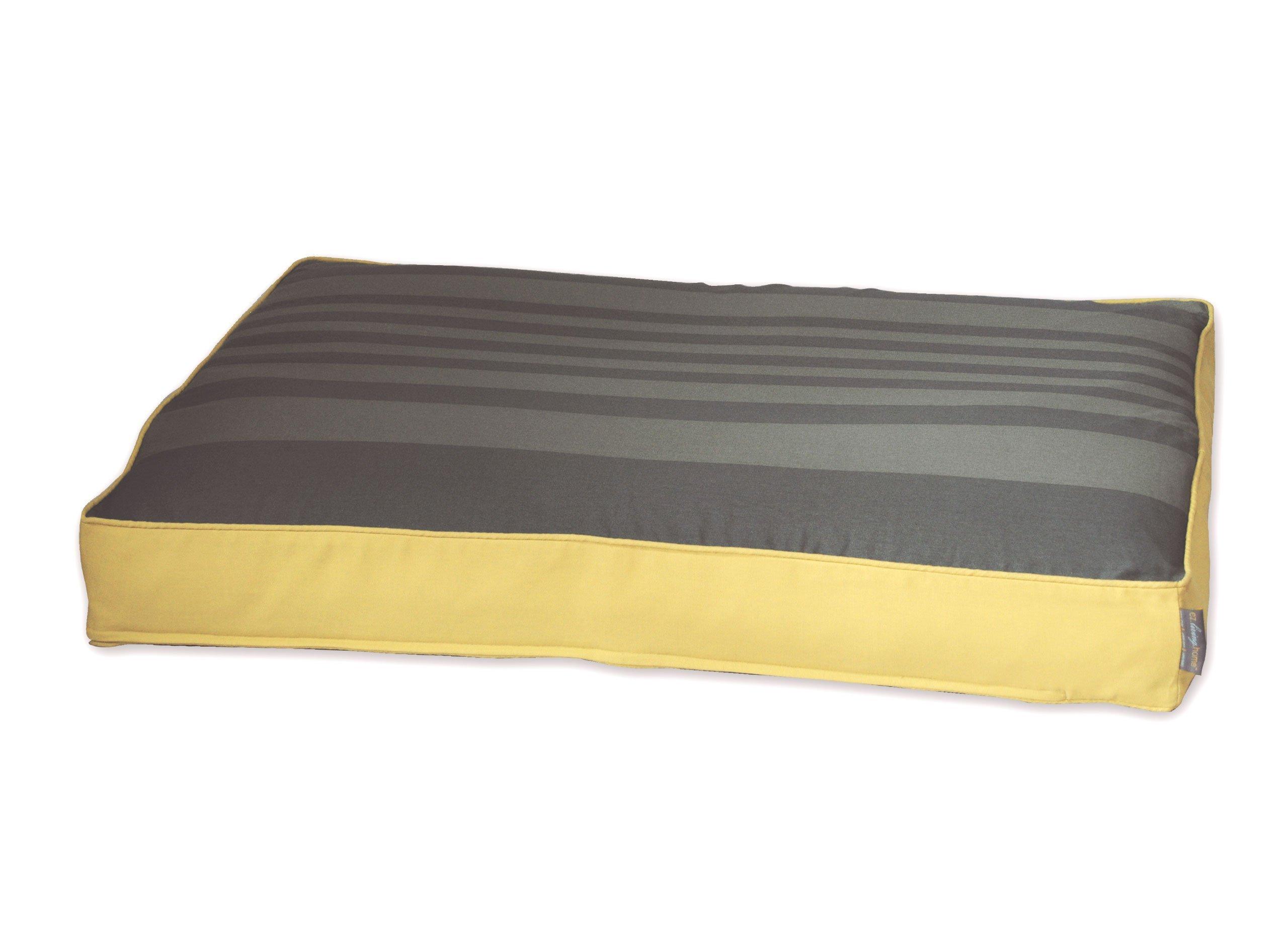 EZ Living Home Tonal Stripe Memory Foam Topper Pet Pillow Bed Size: Medium - 36'' L x 27'' W