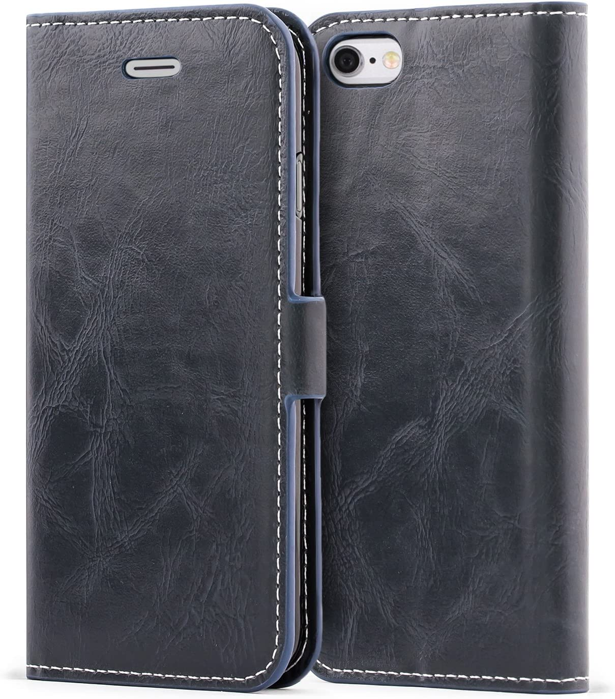 Mulbess iPhone 6s Wallet Case, Flip Leather Phone Case with Kickstand and Card Holder for iPhone 6 / 6s (4.7 inch) Cover, Navy Blue
