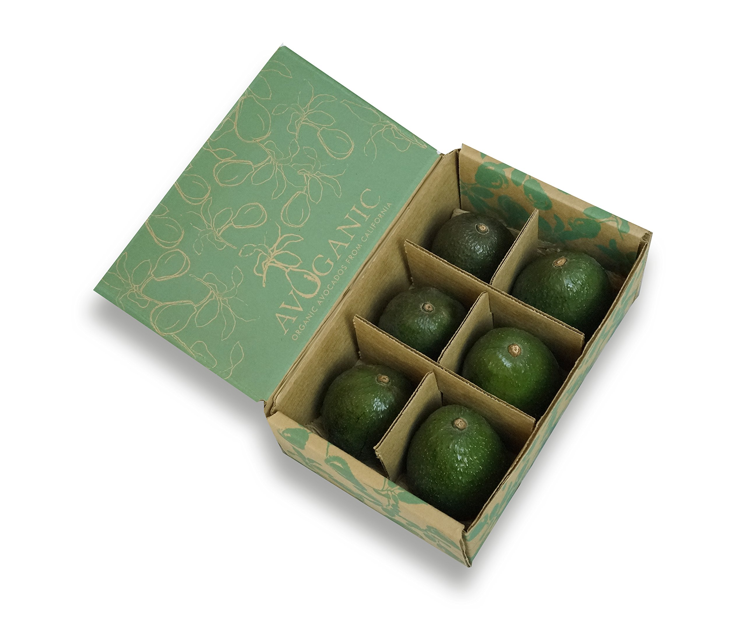 6 Large Organic California Hass Avocados