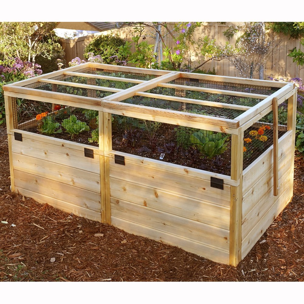 Outdoor Living Today Raised Cedar Garden Bed with Trellis/Lid - 6 x 3 ft. by Outdoor Living Today