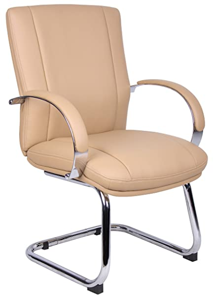 Good Elektra Guest Chair Base / Fabric Finish: Chrome / Tan