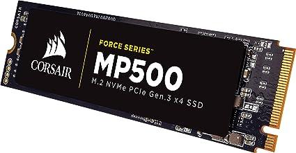 Corsair Force MP500 Series M.2 SSD 480GB Internal Drive (CSSD-F480GBMP500) Internal Solid State Drives at amazon