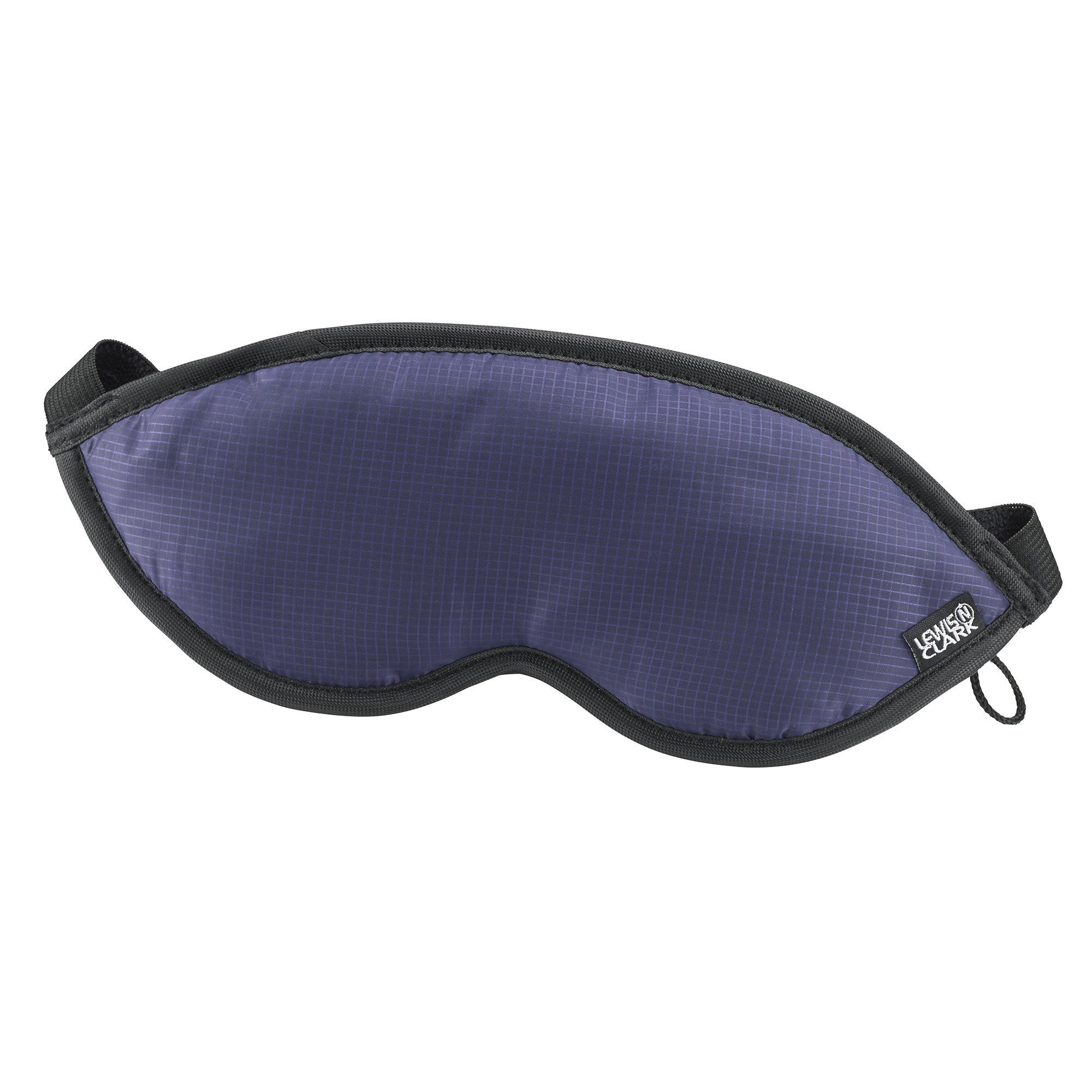 Lewis N. Clark Comfort Eye Mask With Adjustable Straps Blocks Out All Light, Blue