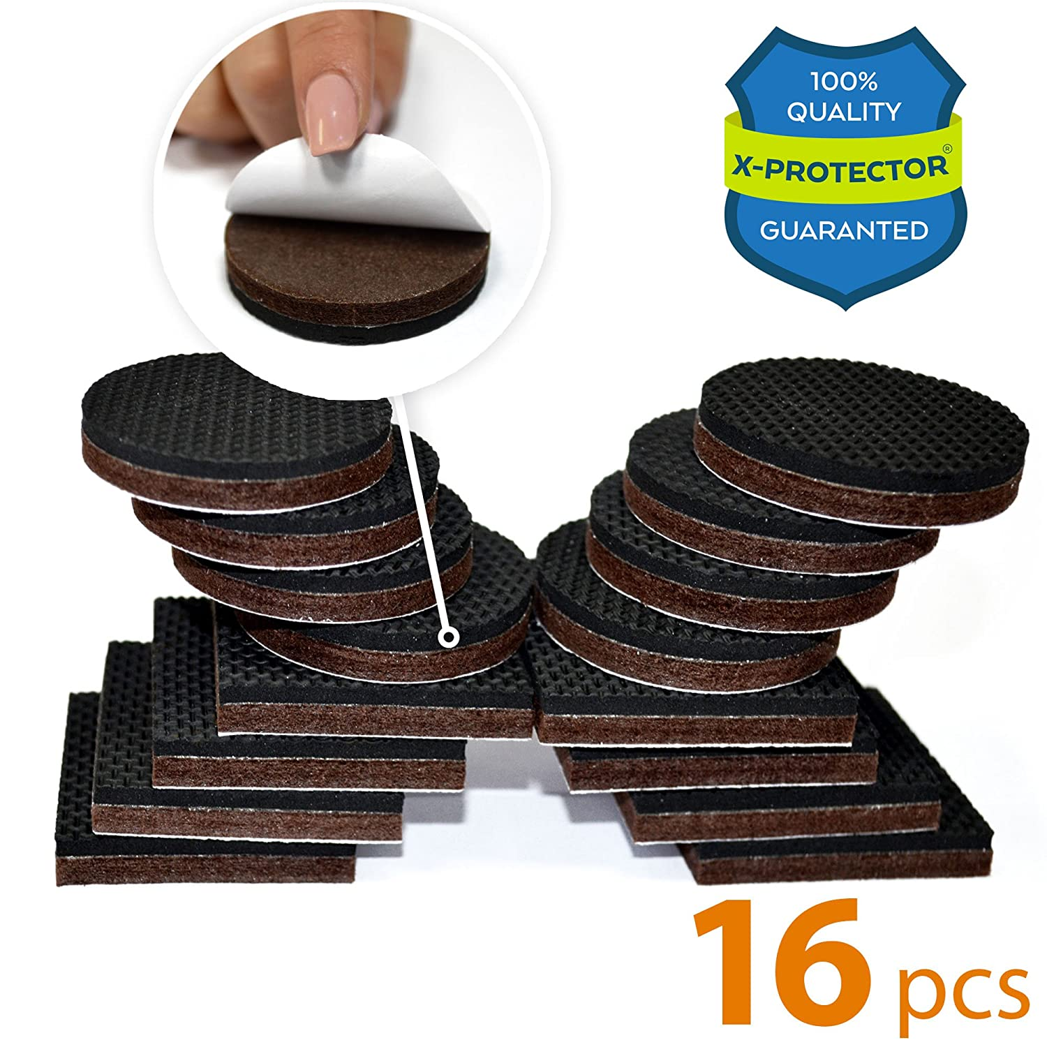 hires slider glide floor wood chair pad finest protectors brown with yueton nail pads feet pcs socks table on leg felt furniture melonboat cool