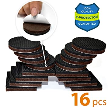 PREMIUM NON SLIP Furniture Pads 16 Piece 2u201d. Best SelfAdhesive Furniture  Grippers U2013 Furniture