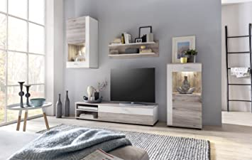 Modern Living Room Furniture Set TV Stand Shelf Wall Mounted Cabinet  Cupboard