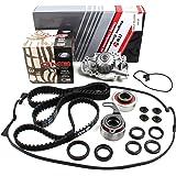 New ITM186WPVC (113 Round Teeth) Timing Belt Seal Kit, Water Pump Set, & Valve Cover Gasket (w/ Grommets, Spark Plug Seals) for Honda 2.2L F22A F22B SOHC NON-VTEC