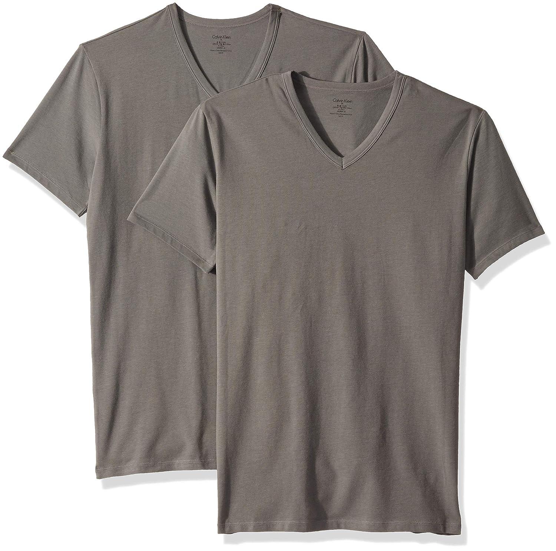 161edf51 Calvin Klein Men's Cotton Stretch 2 Pack V Neck T-Shirts