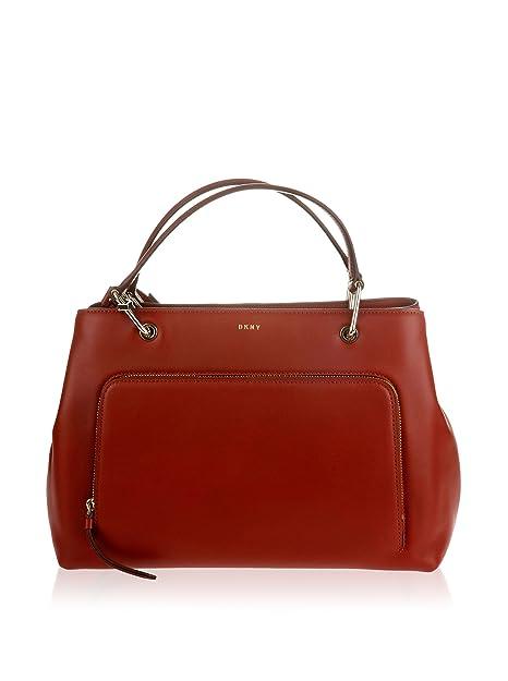 DKNY Bolso asa de mano R361011004 GREENWICH Rojo: Amazon.es: Zapatos y complementos