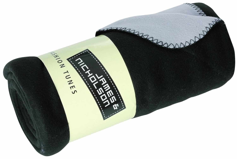 ジェームズ&ニコルソンフリース毛布 - 黒、150 x 170 cm   B0067GIP5I