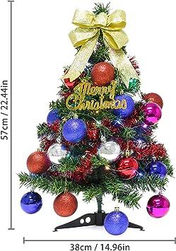 FunPa Mini árbol de Navidad, 2 pies Merry Christmas árbol de Pino ...