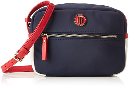 Tommy Hilfiger - Chic Nylon Crossover, Shoppers y bolsos de hombro Mujer, Azul (