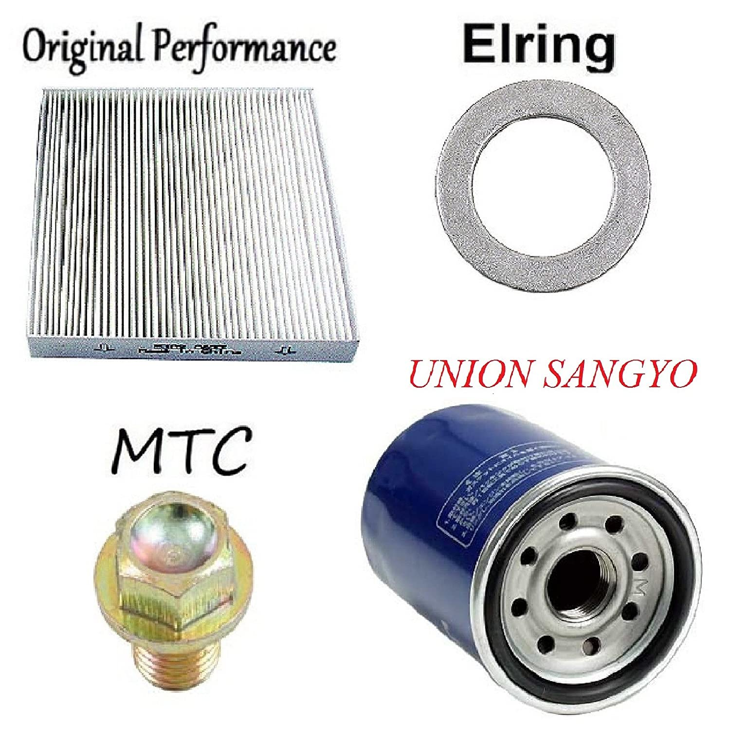 Tune Up Kit Cabin Air Oil Filters Plug Gasket for Honda CR-V 2008-2014