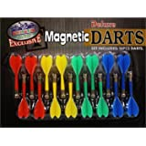 """Deluxe 16 Piece Magnetic Replacement Darts with Plastic Wings in Red, Blue, Green & Yellow - """"Matty's Toy Stop"""" Exclusive"""