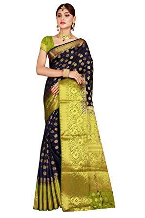 2e3787107c4 Dealsure Women s Multicolor Banarasi Silk Saree With Blouse Piece ...