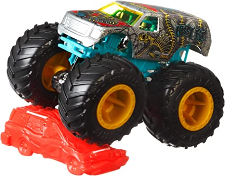Oferta amazon: Hot Wheels Monster Trucks 1:64, modelso surtidos, coches de juguetes para niños + 3 años (Mattel FYJ44)