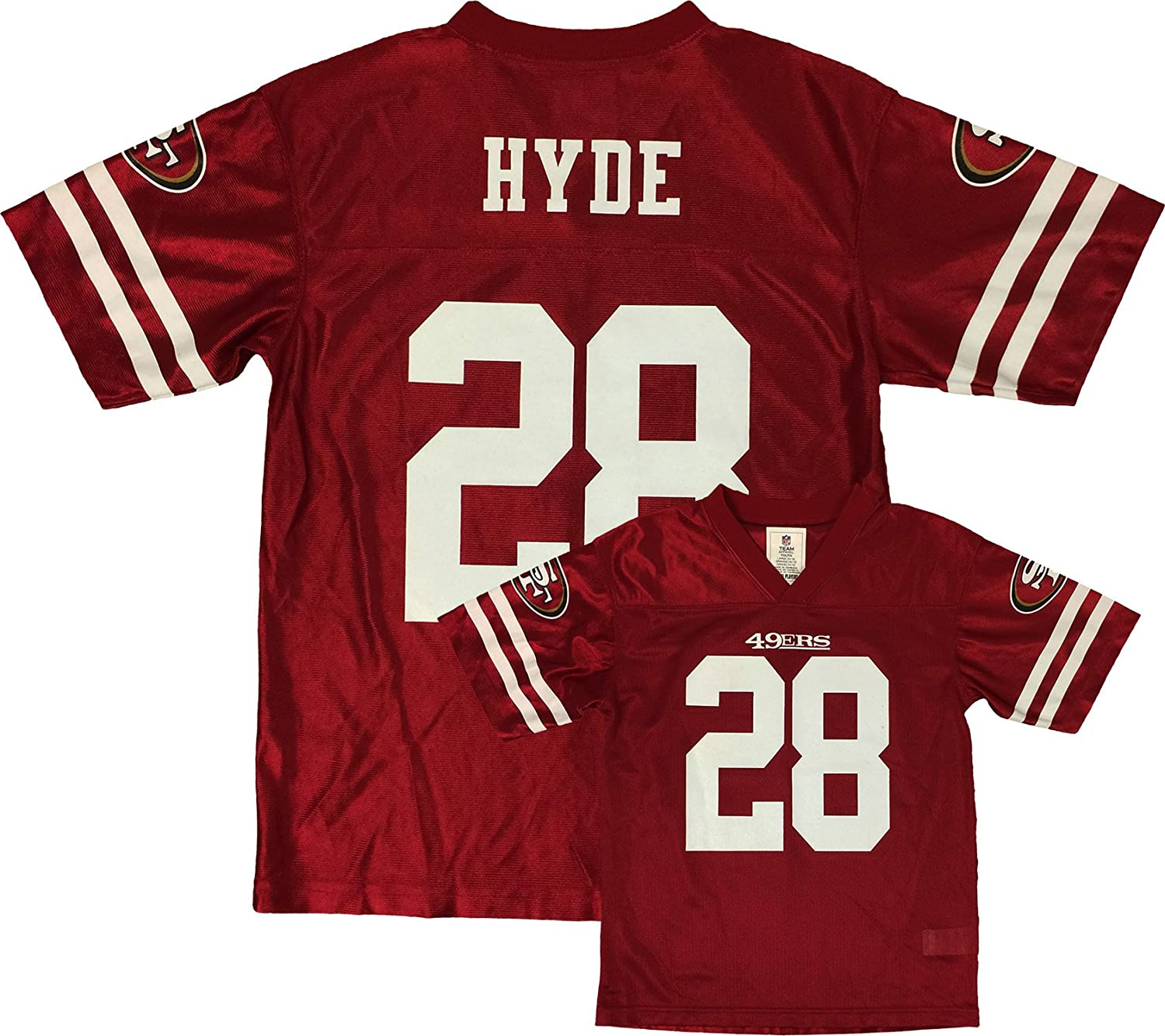 Amazon.com: Carlos Hyde San Francisco 49ers Red Home Player Jersey ...