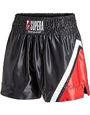 Supera Muay Thai Short Performance. Thai Caja Pantalones para Entrenamiento y competición. Pantalones de Kickbox con de Cintura elástico y Amplio Interfaz. Forma del Dispositivo para MMA, Kickboxing