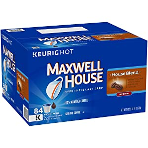Maxwell House House Blend Keurig K Cup Coffee Pods, 84 Count