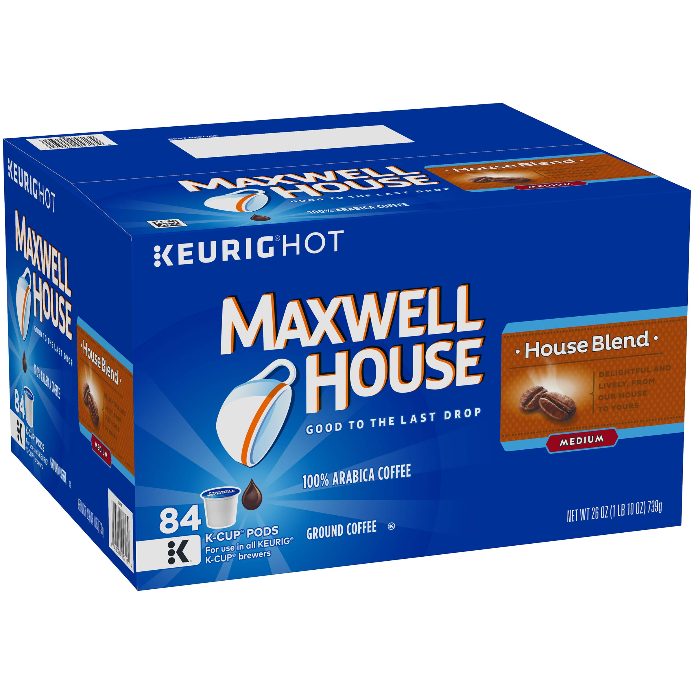 Maxwell House House Blend Keurig K Cup Coffee Pods (84 Count)