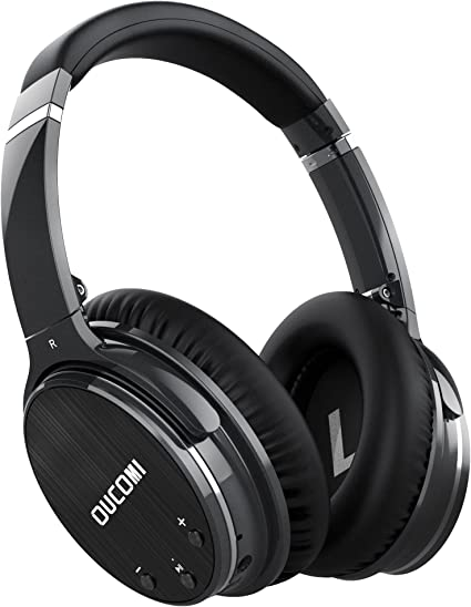 Amazon Com Active Noise Cancelling Bluetooth Headphones Oucomi L1 Over Ear Wireless Earphones Hi Fi Stereo Foldable Deep Bass With Built In Mic And Wired Mode For Cell Phones Pc Tv Black Musical Instruments