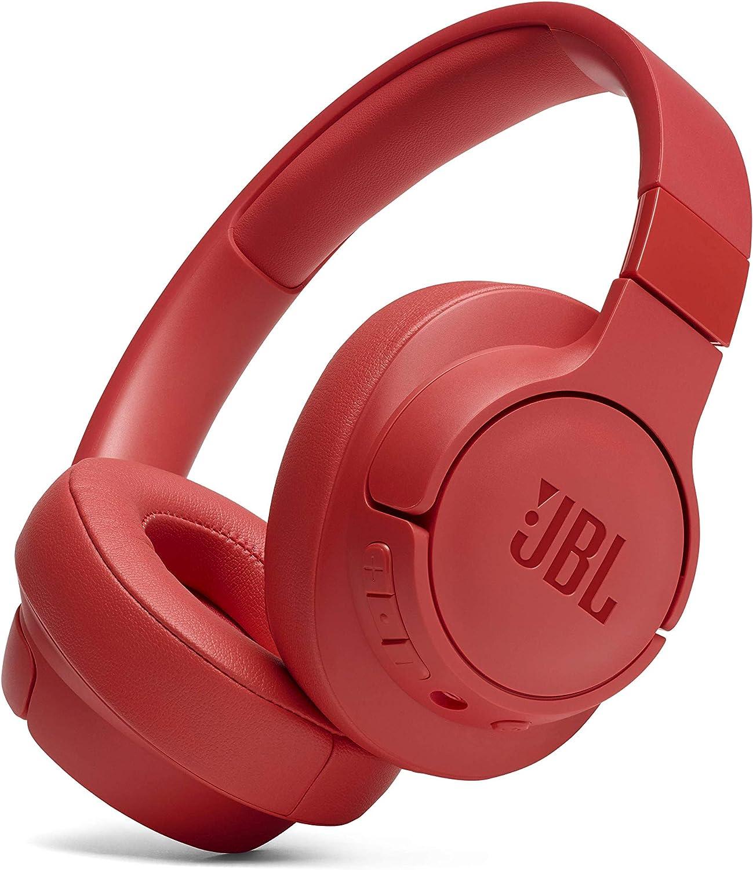 JBL TUNE700BT - Auriculares Supraaurales con Bluetooth, de diadema ligeros con batería de hasta 27 horas y cable extraíble, color coral