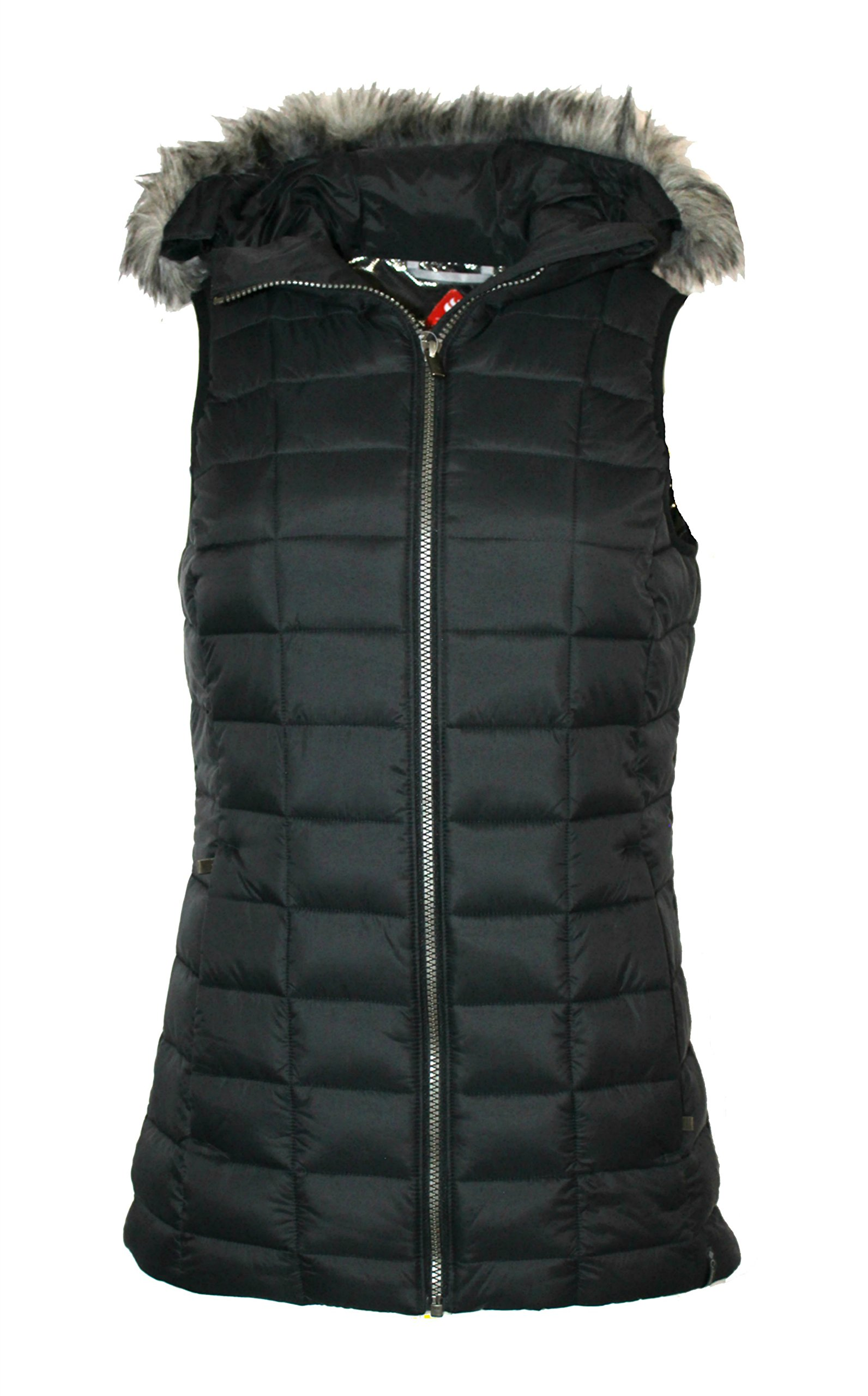 Columbia Women's Backcountry Blizzard Omni Heat Hooded Puffer Vest (Black, XL) by Columbia