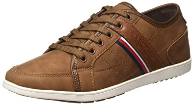 0ef278b418b US Polo Association Men's Gasol Brown Leather Sneakers-7.0 UK/India ...