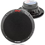 6.5 Inch Dual Marine Speakers - 2 Way Waterproof and Weather Resistant Outdoor Audio Stereo Sound System with 400 Watt Power,