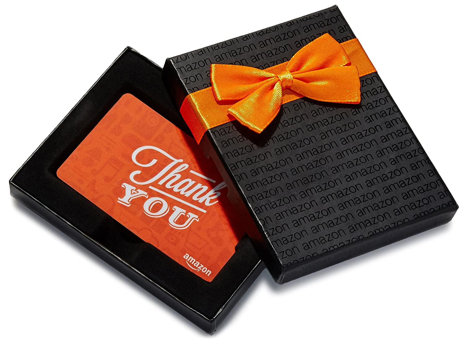 Amazon.ca $500 Gift Card in a Black Gift Box (Thank You Icons Card Design)