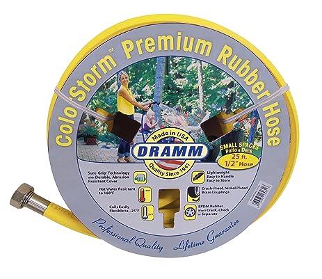 Beautiful Dramm 17033 Colorstorm Premium Rubber Garden Hose, 25u0027 X 1/2u0026quot;,