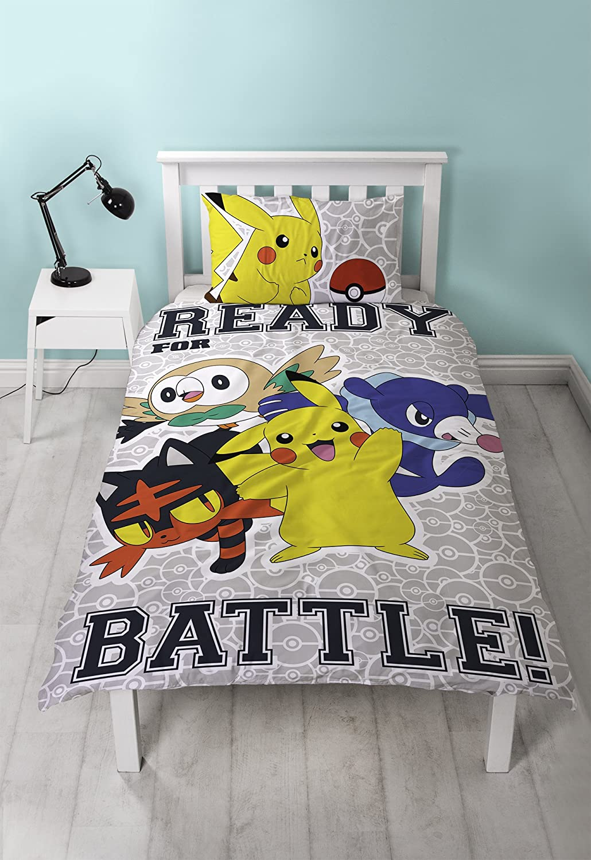 pokemon laredo reversible uk single us twin duvet cover with matching pillow case bedding set