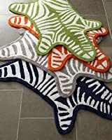 Jonathan Adler Zebra Reversible Bath Mat - Green
