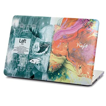 new arrival e2623 f462f Herngee Macbook Case, Einstein Scientific Left Brain and Art Right Brain  Plastic Hard Cover Case for Apple Macbook Pro 15