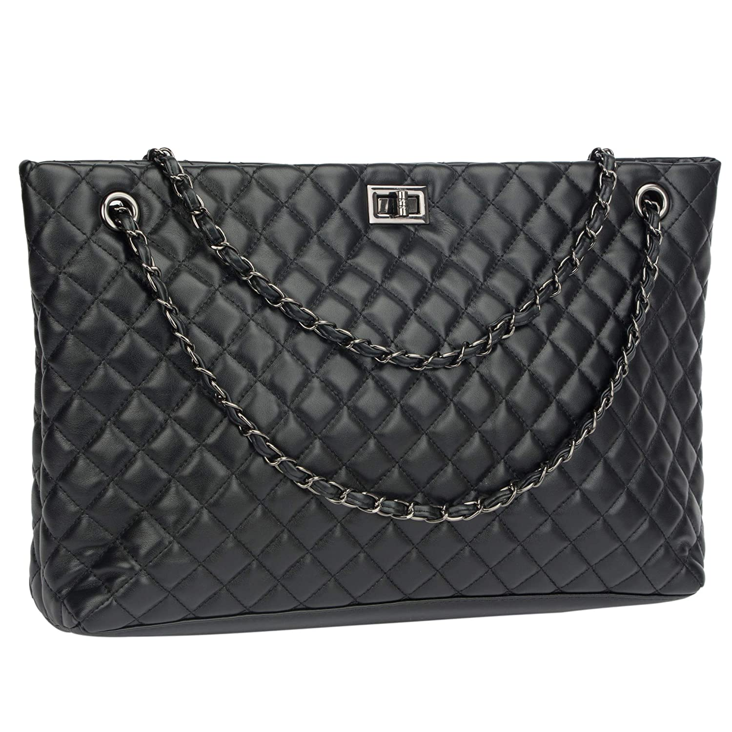 Quilted Handbags for Women Metal Chain Strap